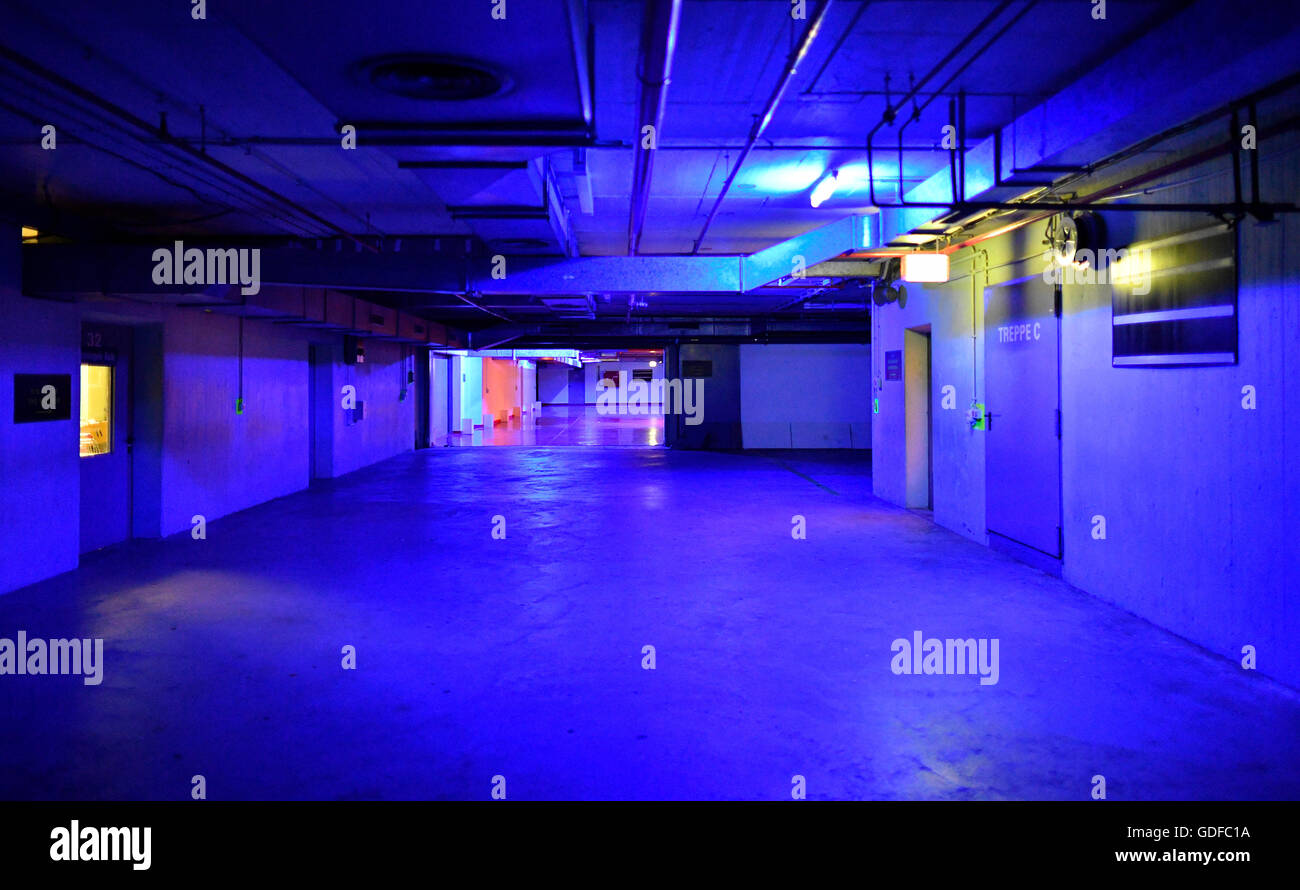 Main building, a former nuclear bomb shelter, fallout shelter, museum, interactive exhibition, 'The Story of - Stock Image