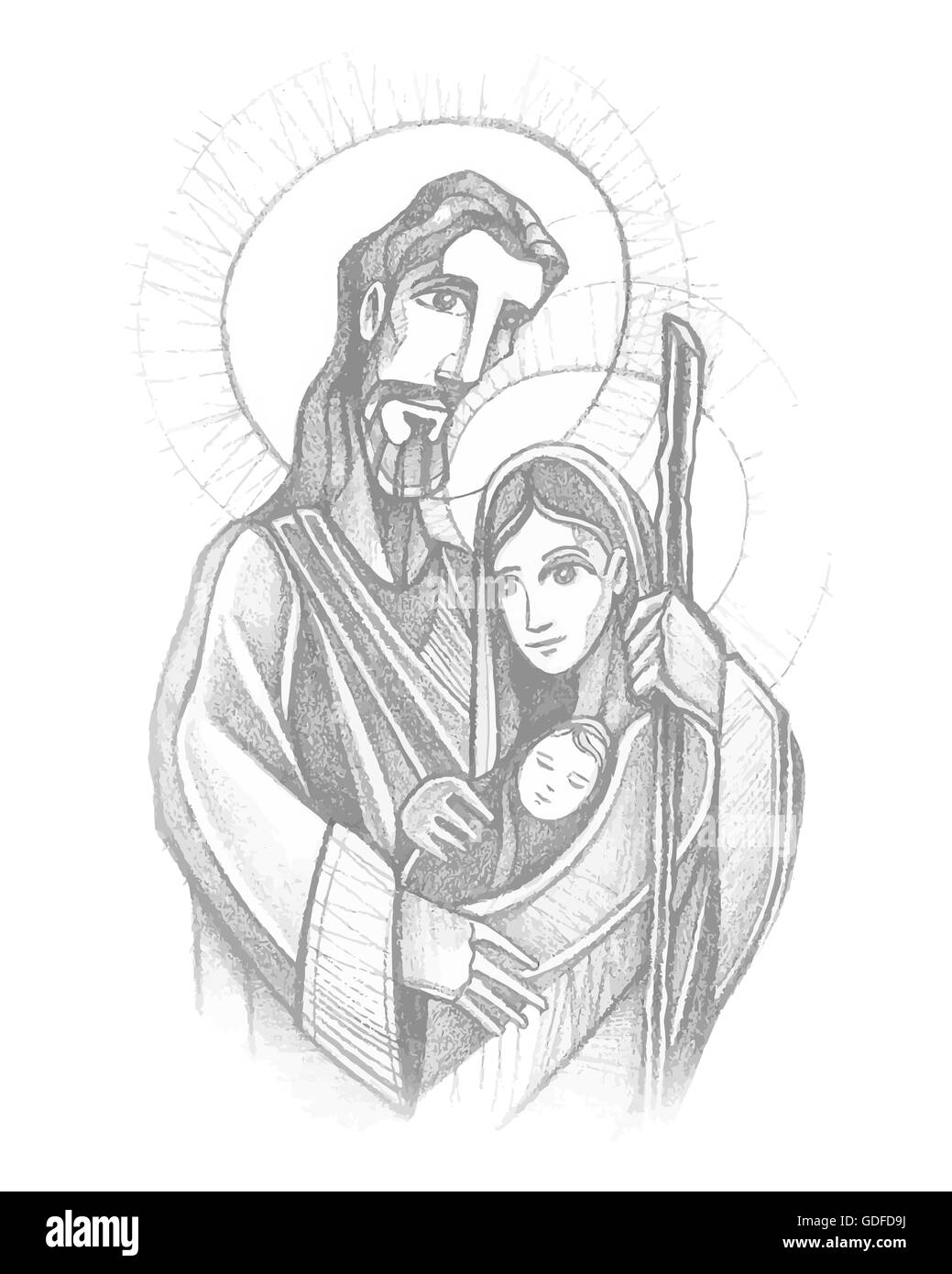 Virgin Mary With Child Black And White Stock Photos Images Page