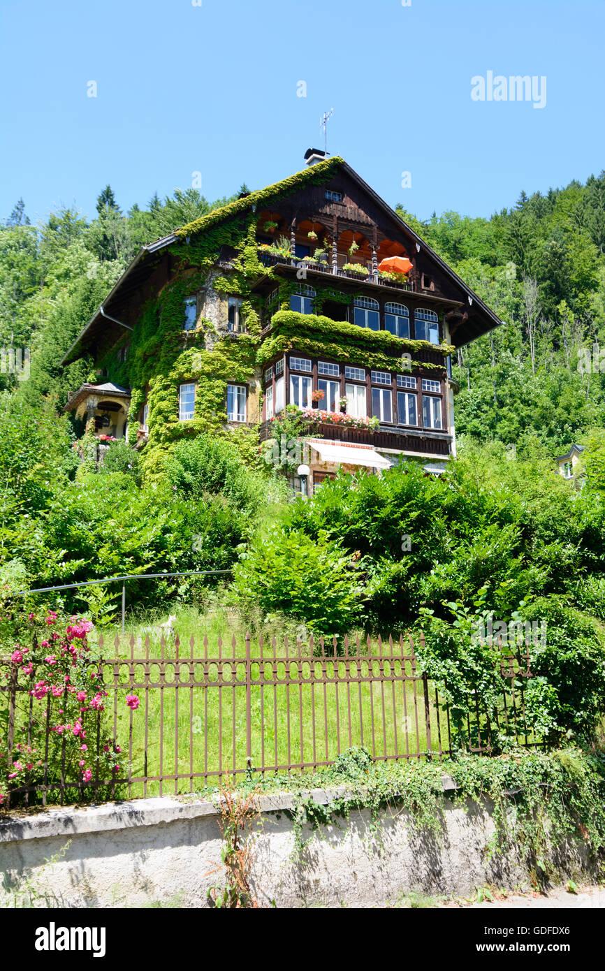 Sankt Gilgen: Villa, Austria, Salzburg, Salzkammergut - Stock Image