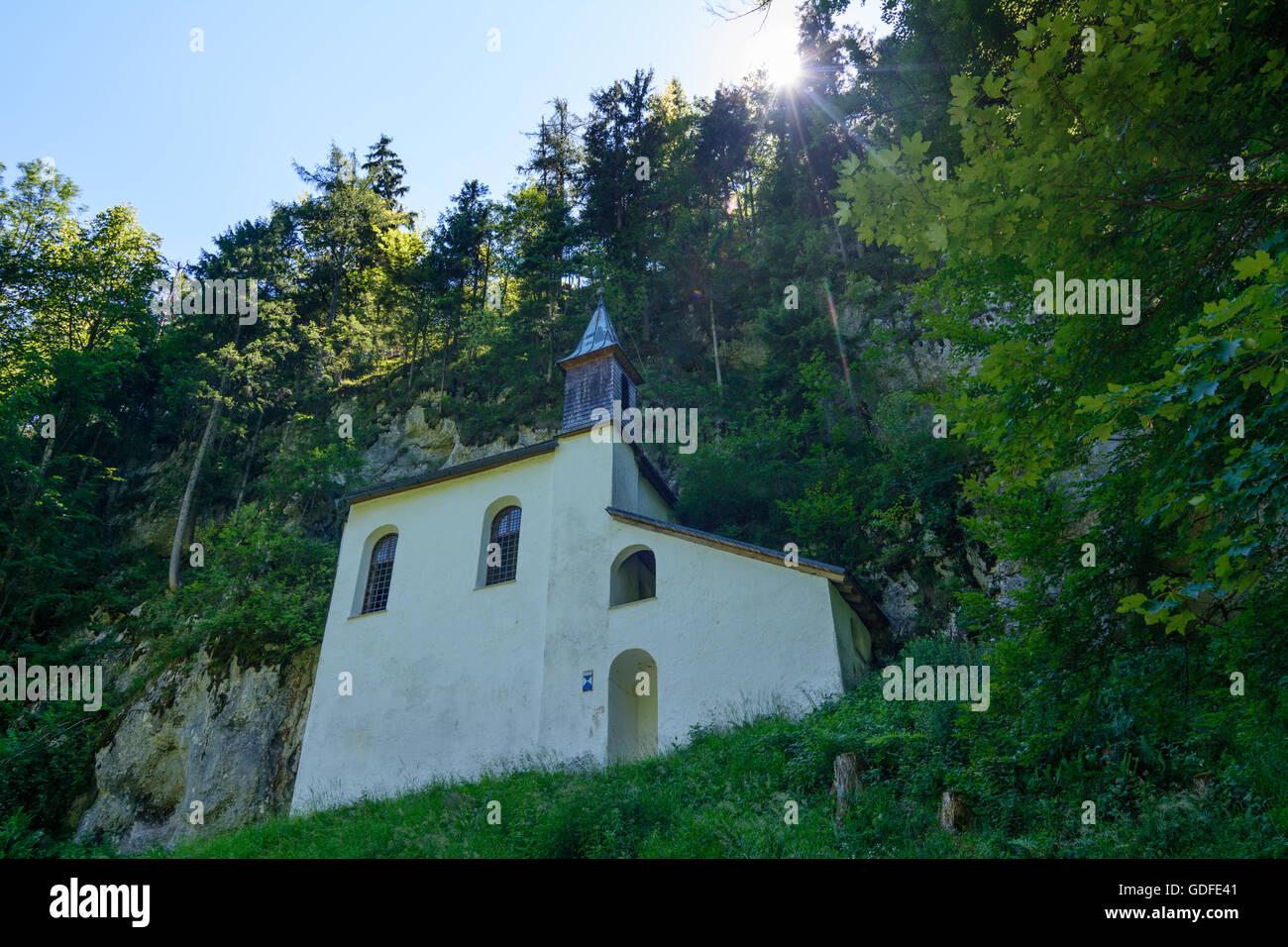 Sankt Gilgen: church Falkensteinkirche, Austria, Salzburg, Salzkammergut - Stock Image