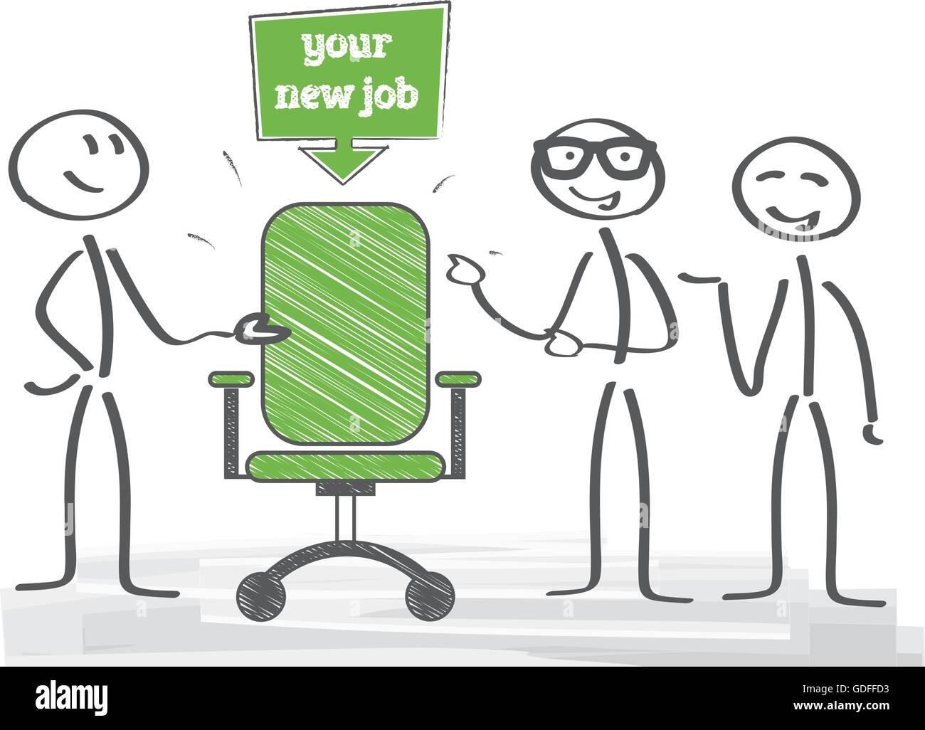 Start new career, your new job - Stock Image