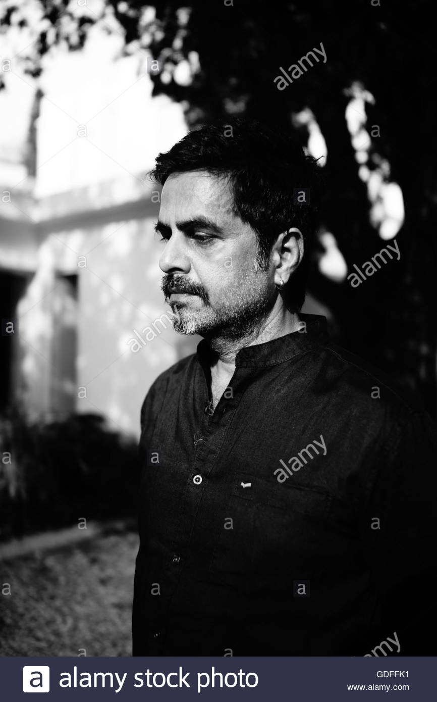 Portrait of the Indian artist Sudarshan Shetty - Stock Image
