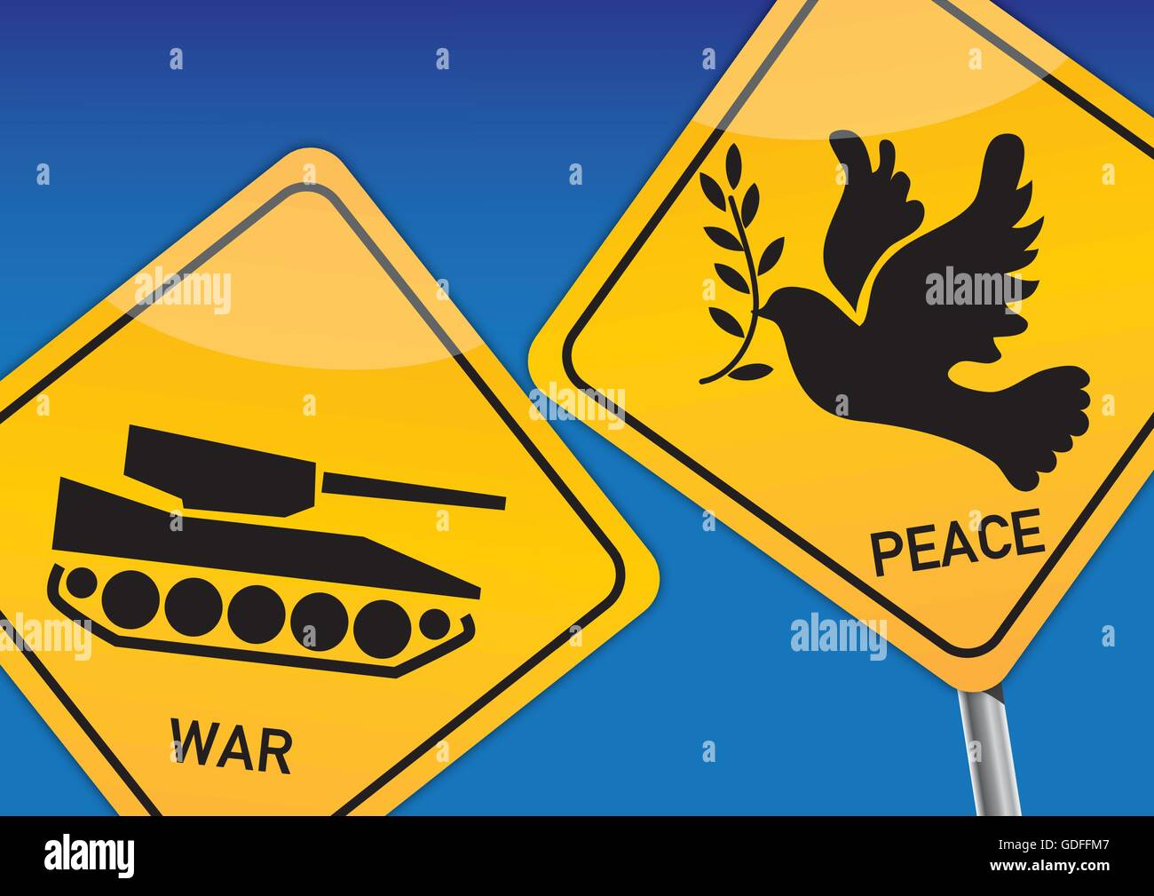 War and Peace, Vektor Illustration with icon images - Stock Vector