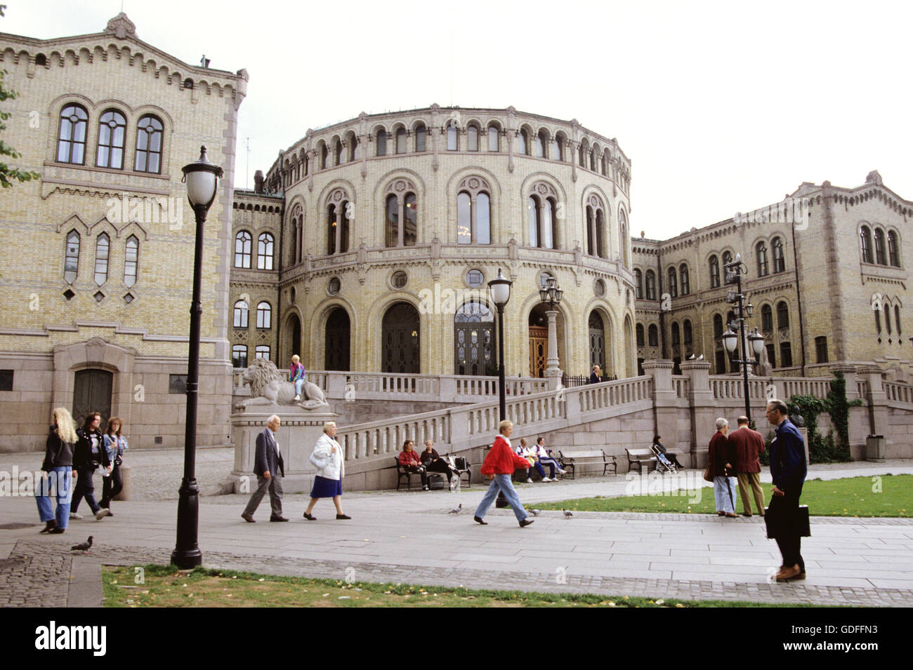 STORTINGET Parliament building in Oslo Norway - Stock Image