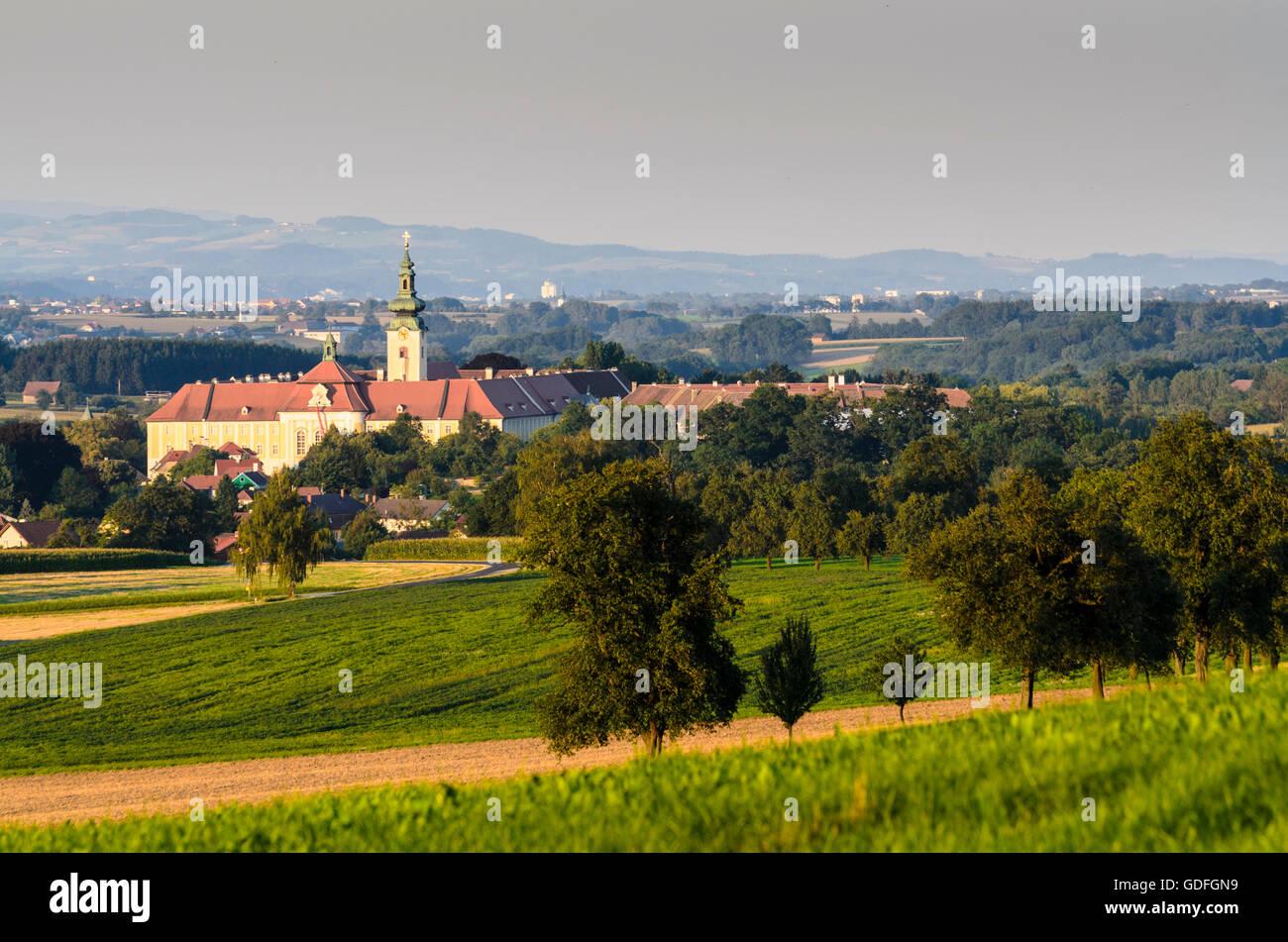 Seitenstetten: Seitenstetten Monastery, fruit tree trees, Austria, Niederösterreich, Lower Austria, Mostviertel - Stock Image