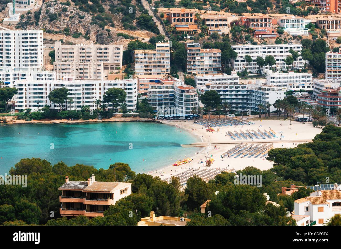 Beautiful view of Santa Ponsa and the beach, Mallorca Stock Photo