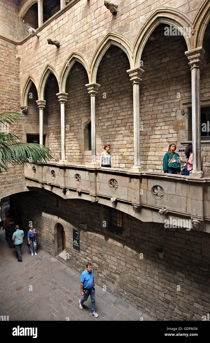 One of the patios of the Museu Picasso, El Born, Barcelona, Catalonia, Spain. - Stock Image