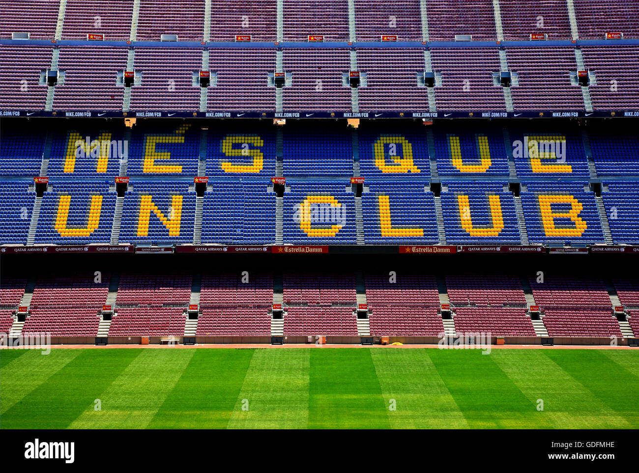 The Camp Nou, the football stadium of FC Barcelona. Barcelona city, Catalonia, Spain - Stock Image