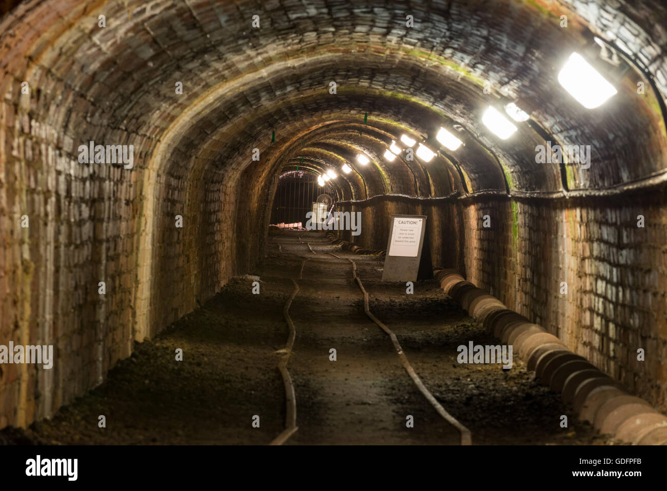 The Tar Tunnel at Coalport, Ironbridge Gorge, Shropshire, England, UK. - Stock Image