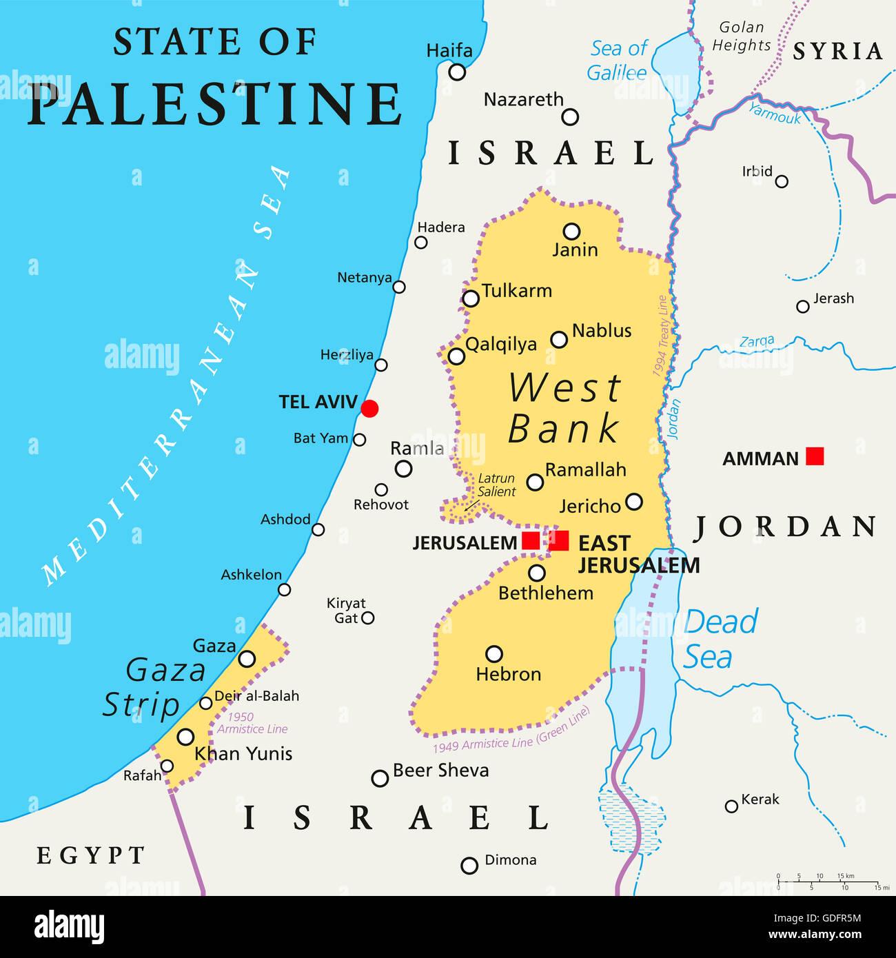 Palestine Map Stock Photos Palestine Map Stock Images Alamy
