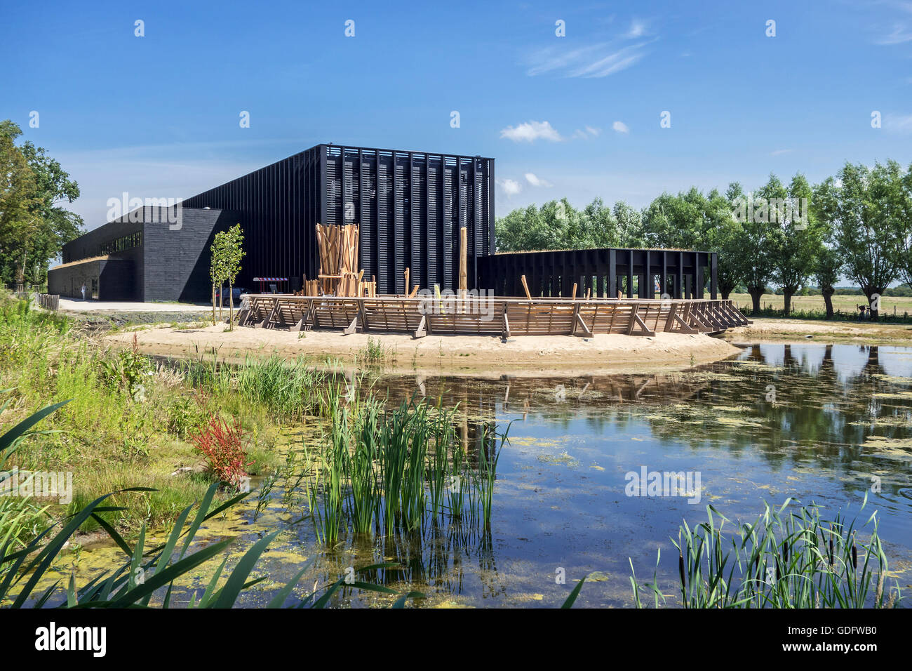 Visitors centre / Visitor center of the Zwin Nature Park, bird sanctuary at Knokke-Heist, West Flanders, Belgium - Stock Image