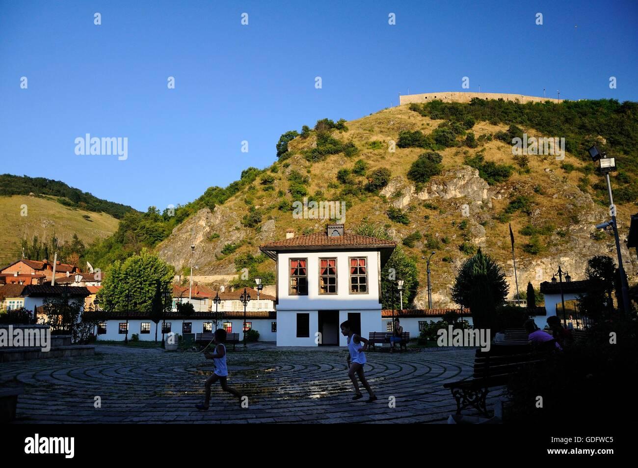 League of Prizren building in Prizren, Kosovo - Stock Image