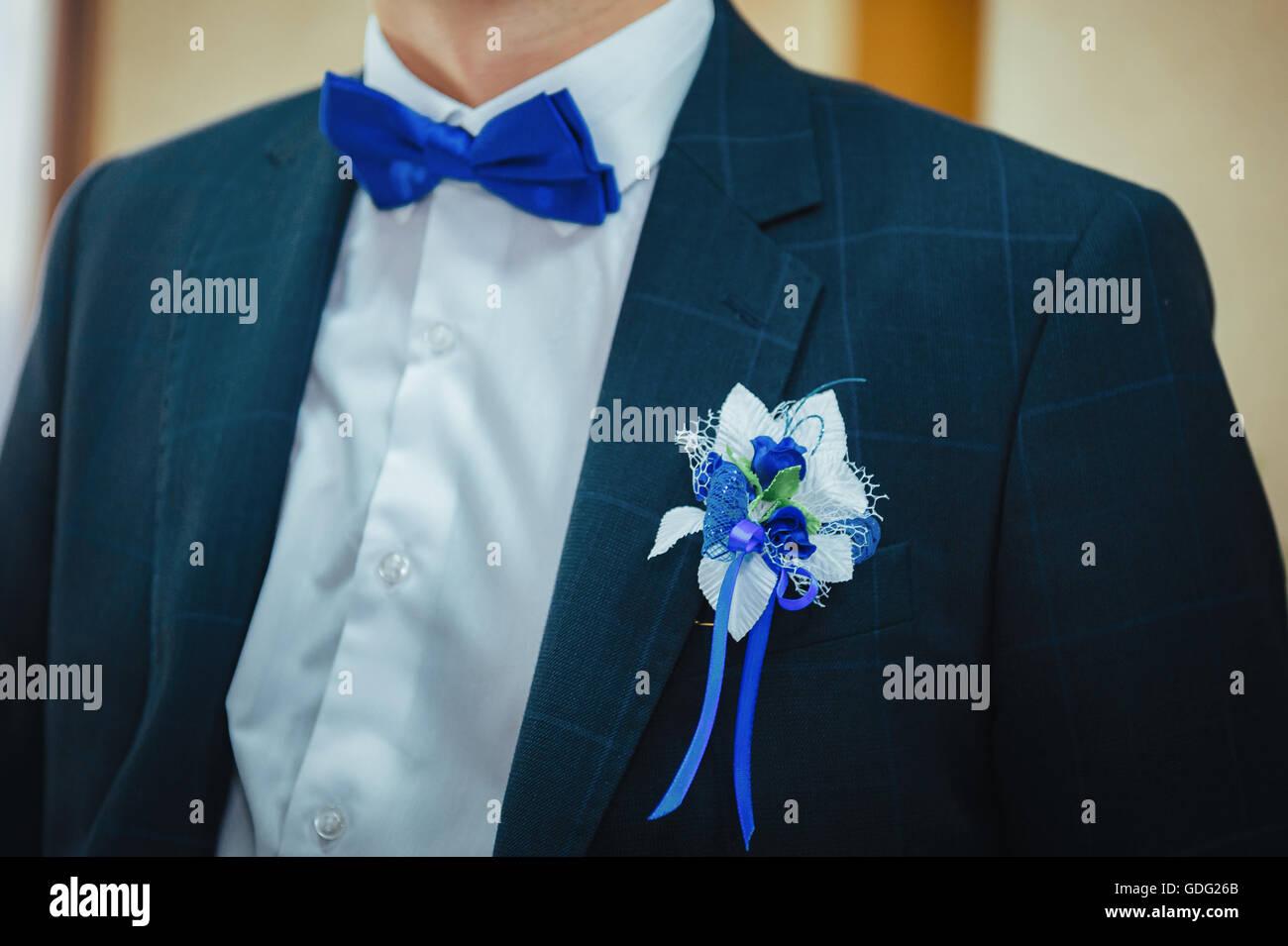 Grooms Wedding Day Buttonhole Stock Photos & Grooms Wedding Day ...