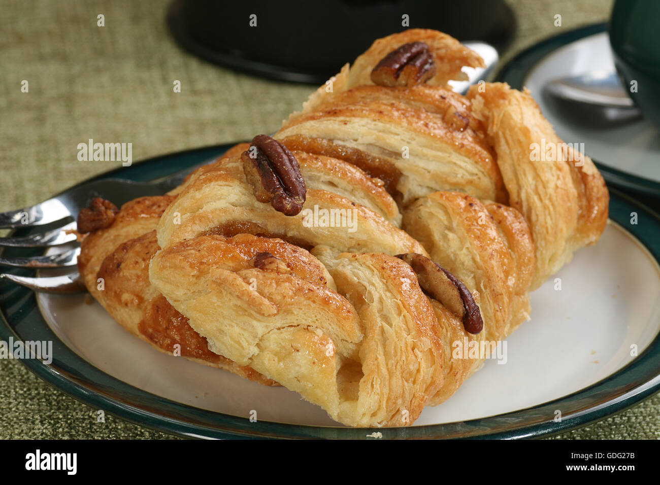 pecan and maple syrup danish pastry - Stock Image