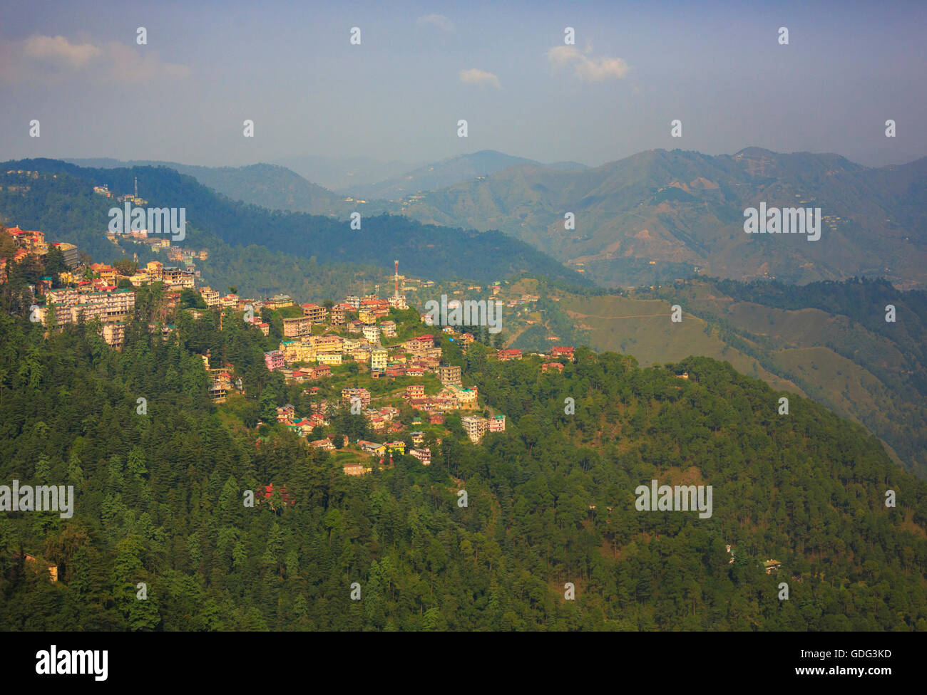 Scenic view of Shimla (Himachal Pradesh, India) - Stock Image