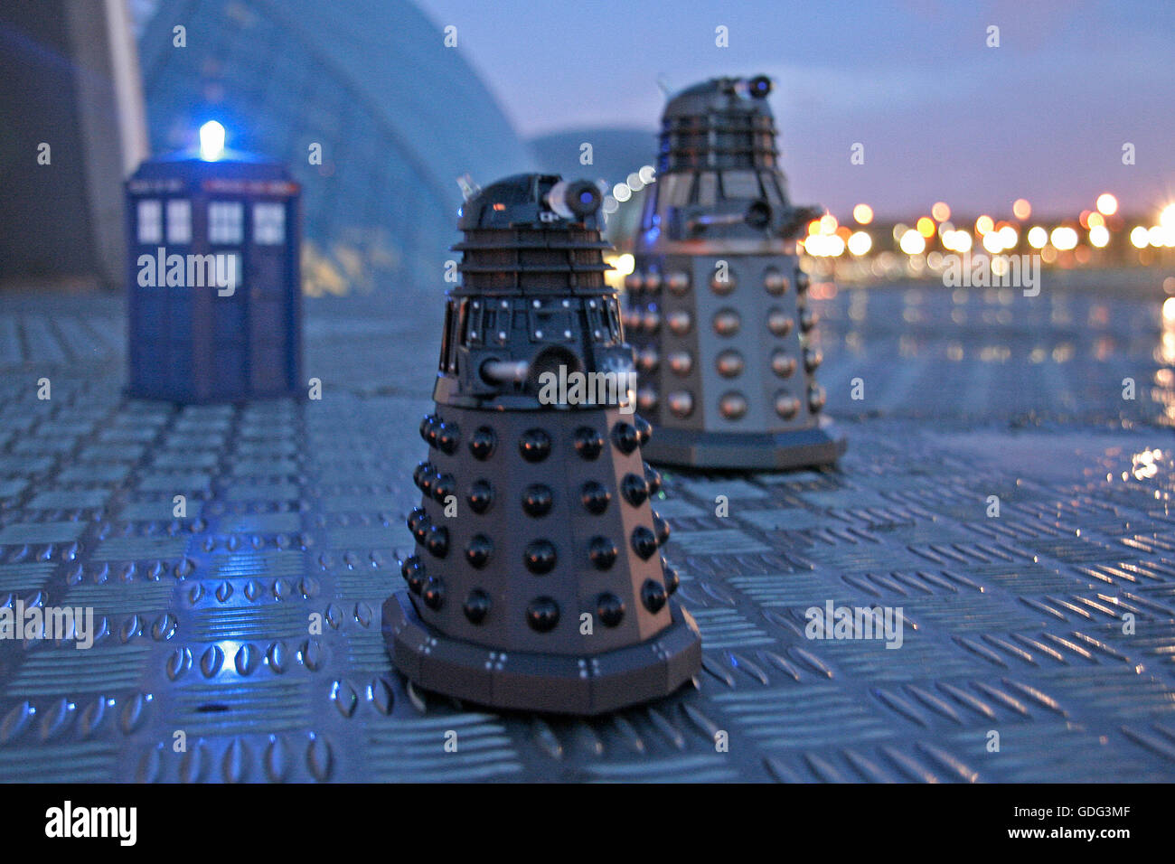 Daleks at the Glasgow Science Centre - Stock Image