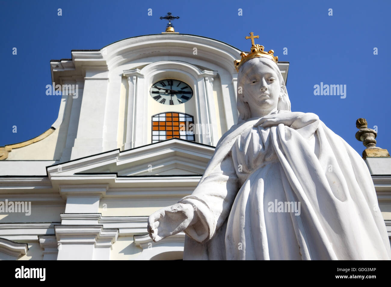 Virgin Mary of Mount Calvary Stock Photo