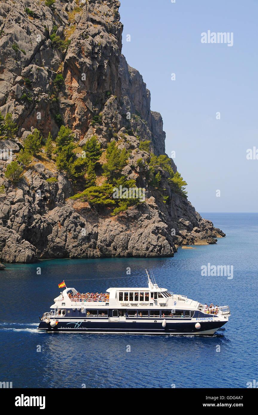 Boat, Port, Sa Calobra - Stock Image
