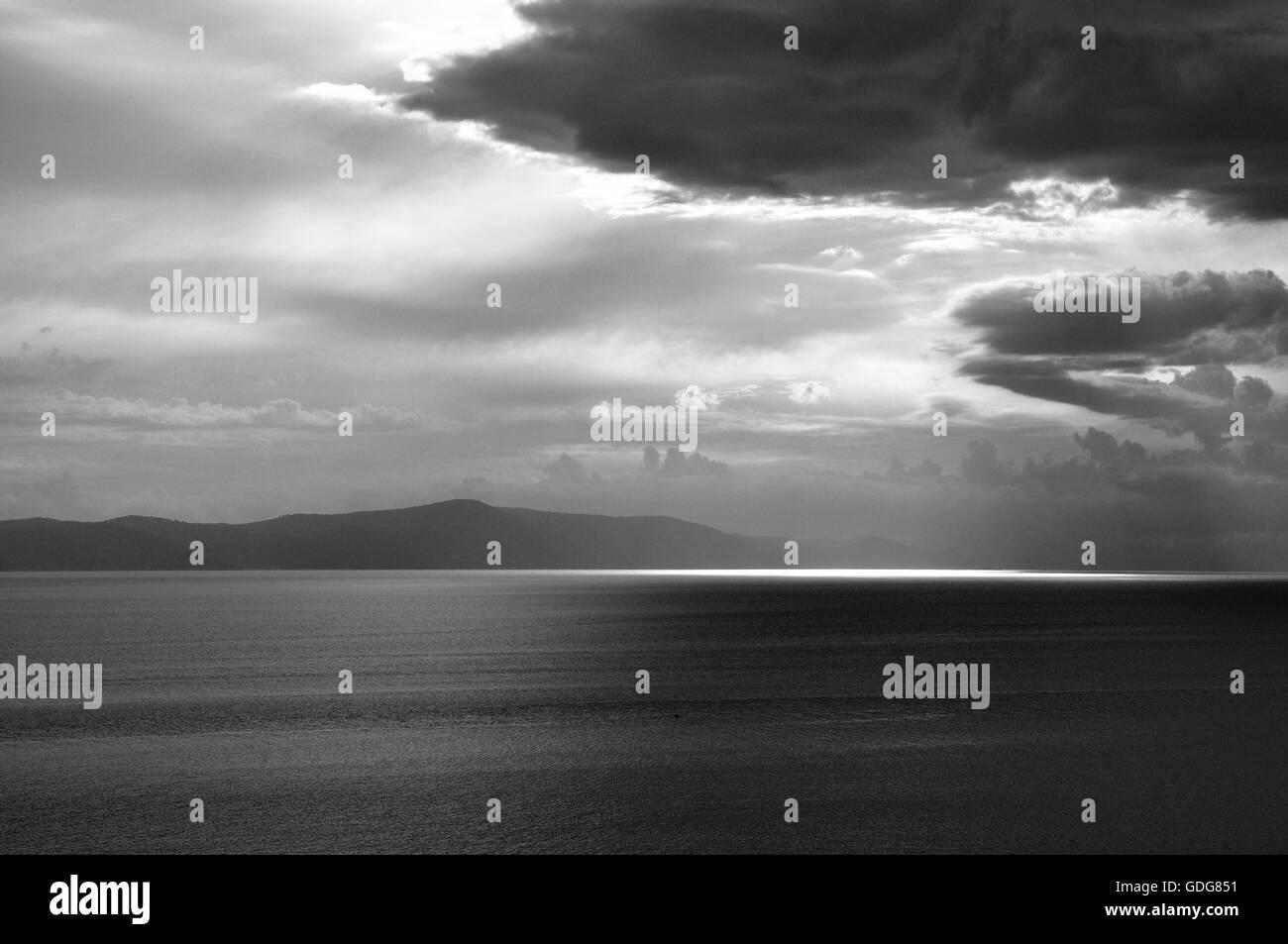 Beauty of croatian seaside. - Stock Image