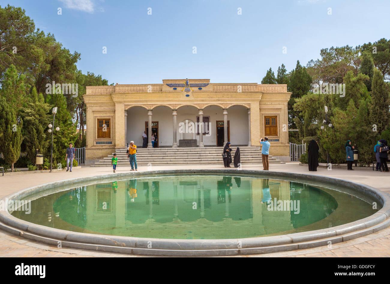 Iran,Yazd City,Ateshkadeh,Eternal Flame Bldg., - Stock Image