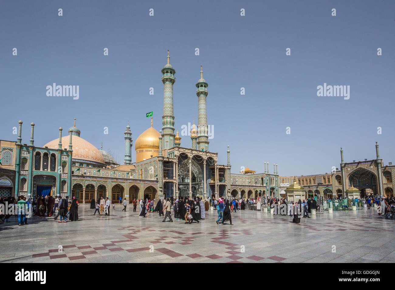 Iran,Qom City,Hazrat-e Masumeh (Holy Shrine) Stock Photo