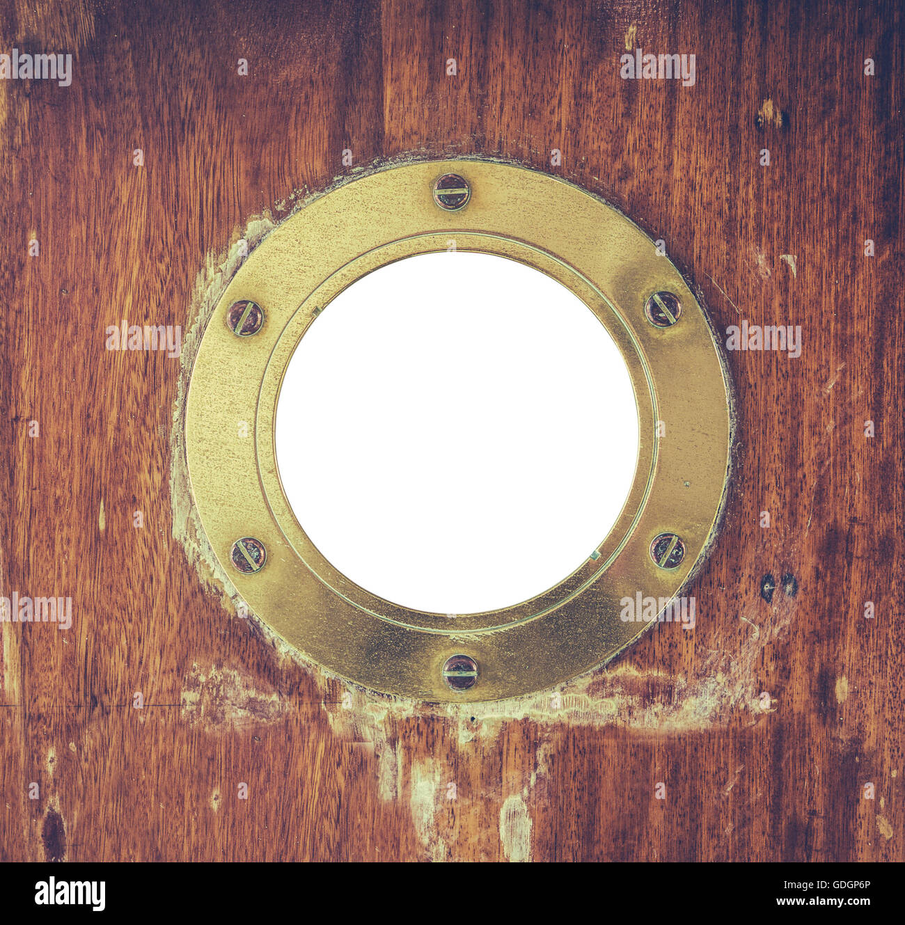 Vintage Brass Porthole In A Shipu0027s Door & Vintage Brass Porthole In A Shipu0027s Door Stock Photo: 111621406 - Alamy