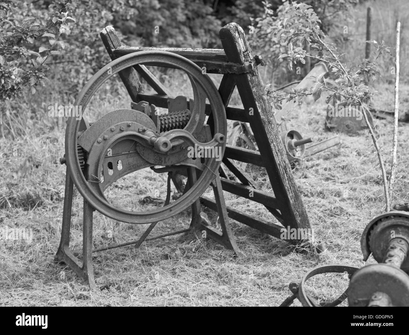 Grain mill for feed stuffs - Stock Image