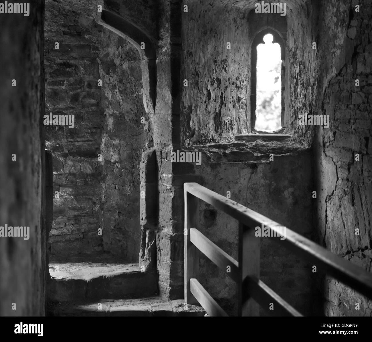 Raglan Castle, inner tower, - Stock Image