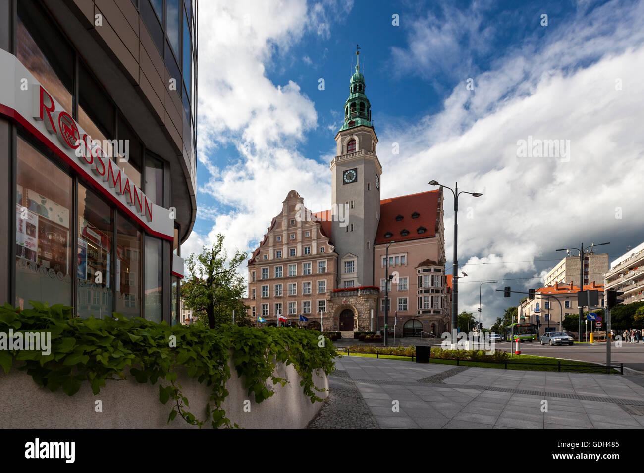Olsztyn Neo-Renaissance town hall, Poland, Europe. - Stock Image