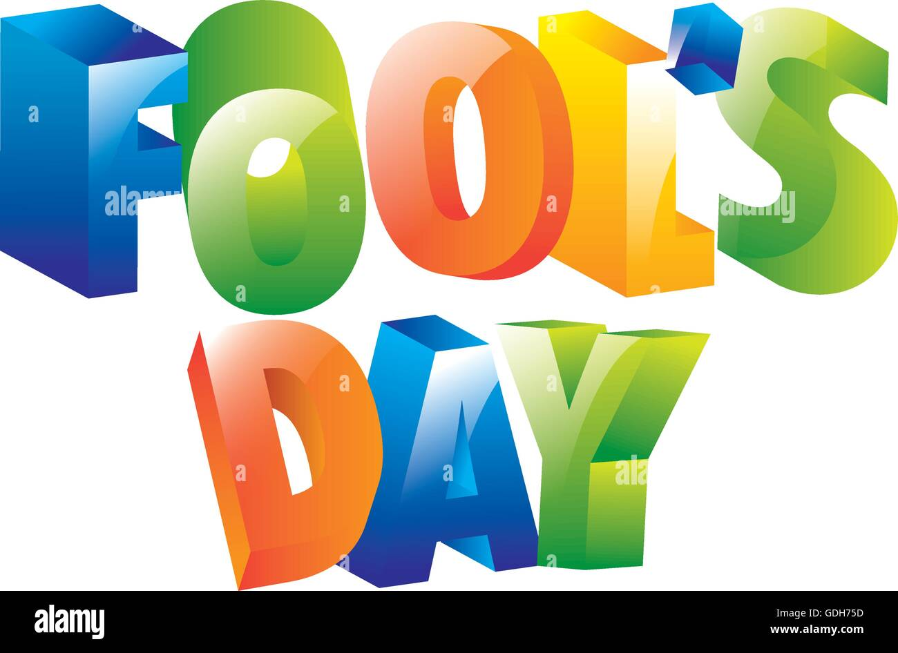 fools day icon - Stock Vector