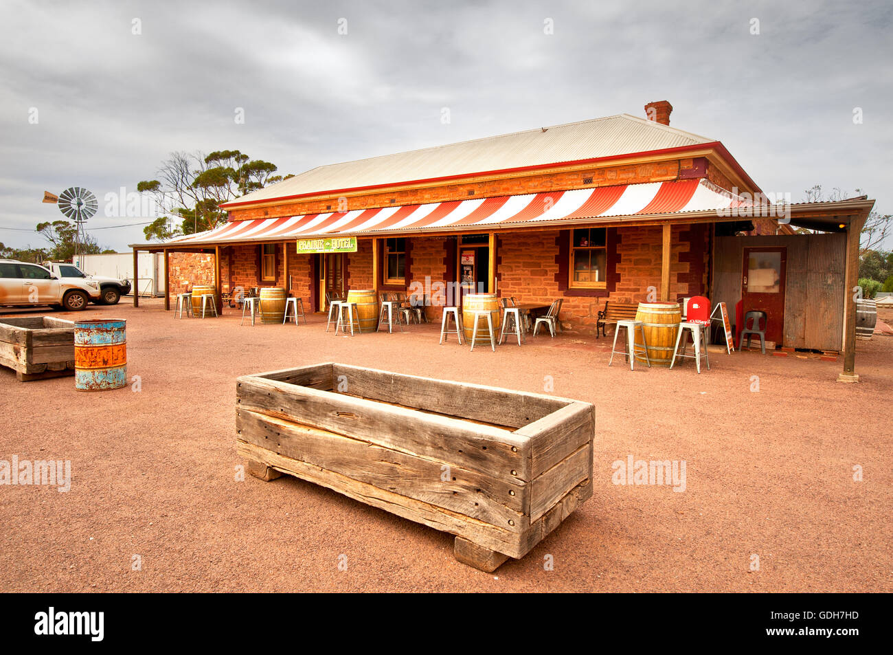 Prairie Hotel in Parachilna, an outback icon in South Australia. Stock Photo