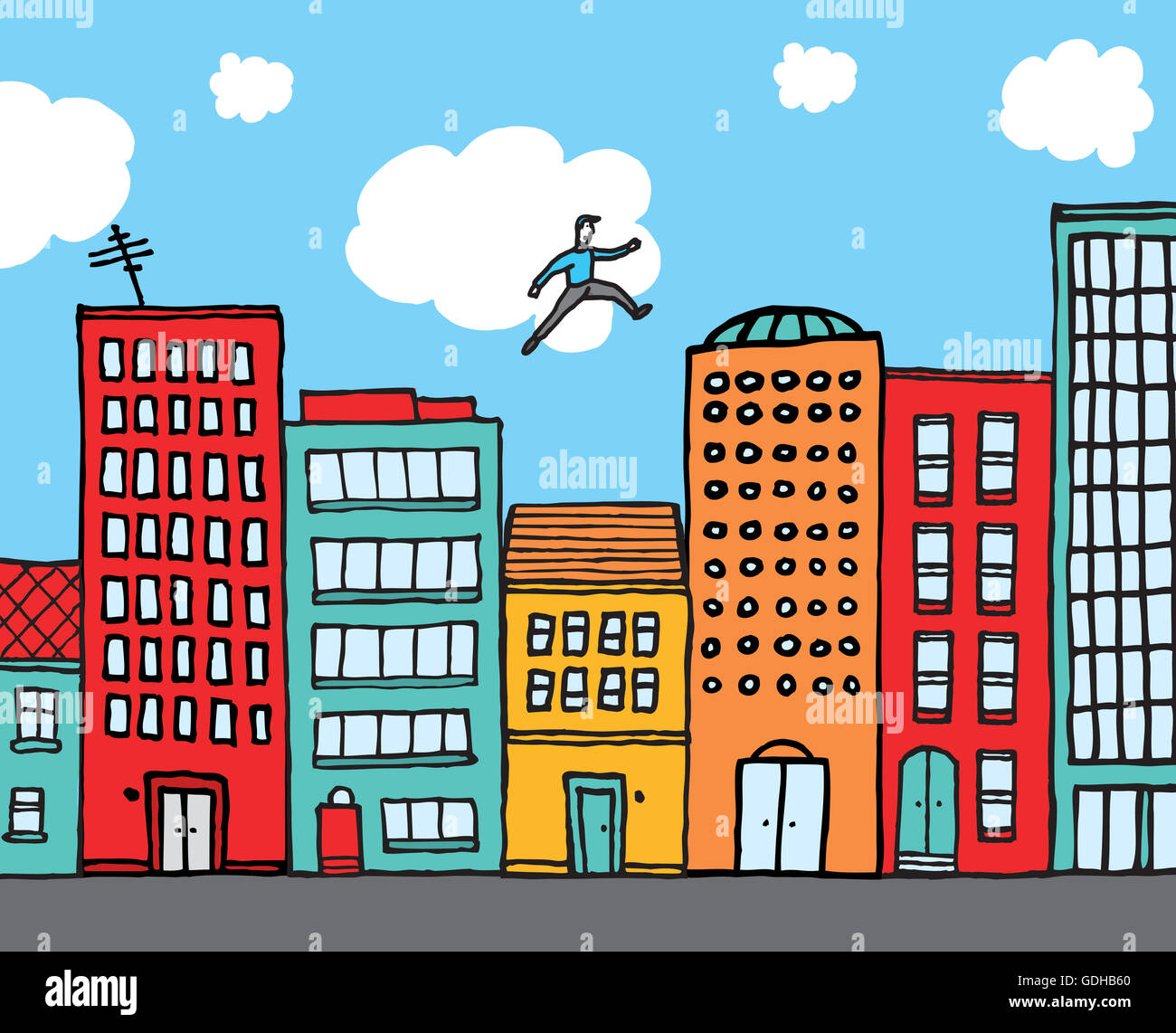 Cartoon Buildings High Resolution Stock Photography and ...