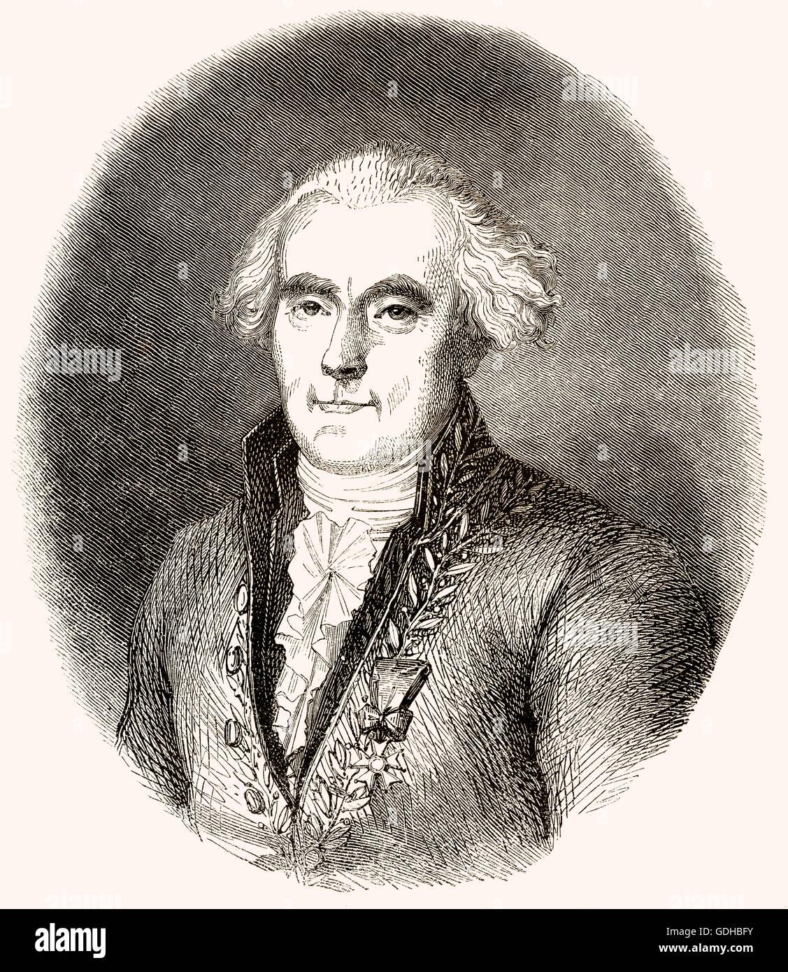 Pierre-Simon, marquis de Laplace,  1749-1827, a French scholar - Stock Image