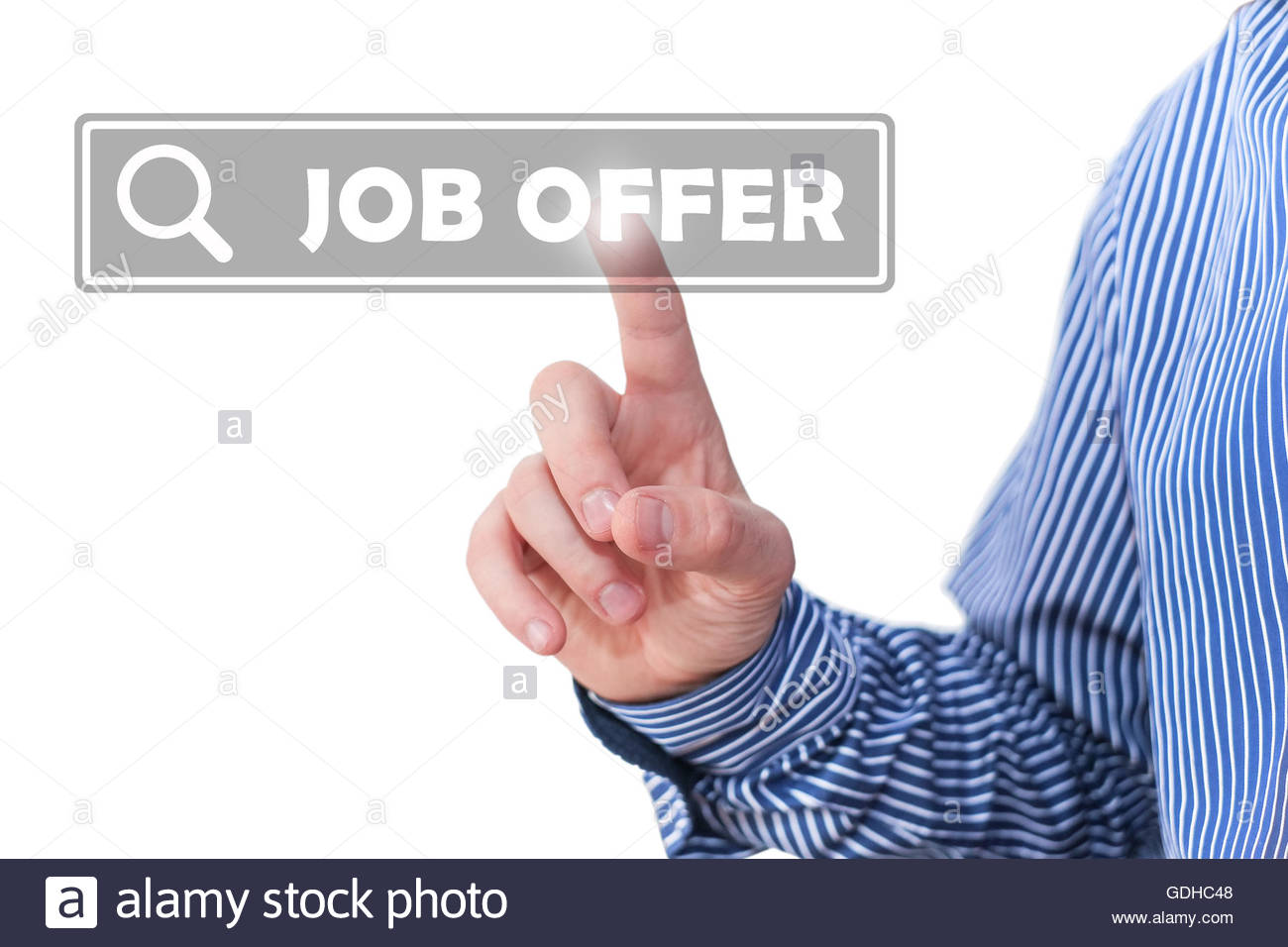 Job offer search - Stock Image