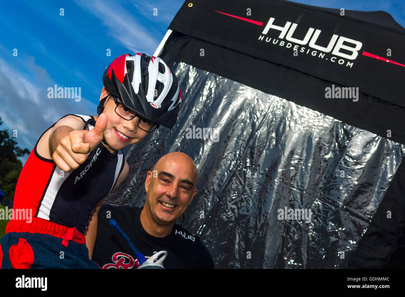 Derby, UK.17th July 2016. BBC Sports Personality of the Year, Bailey Matthews, hosts the Be More Bailey Triathlon, - Stock Image