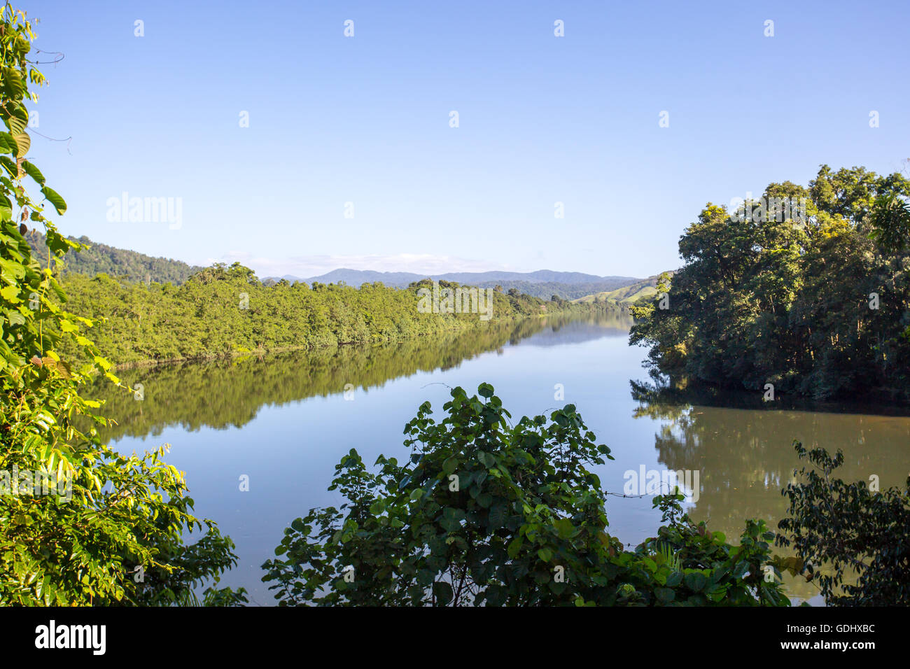 The Daintree River near the town of Daintree in far nth Queensland, Australia - Stock Image