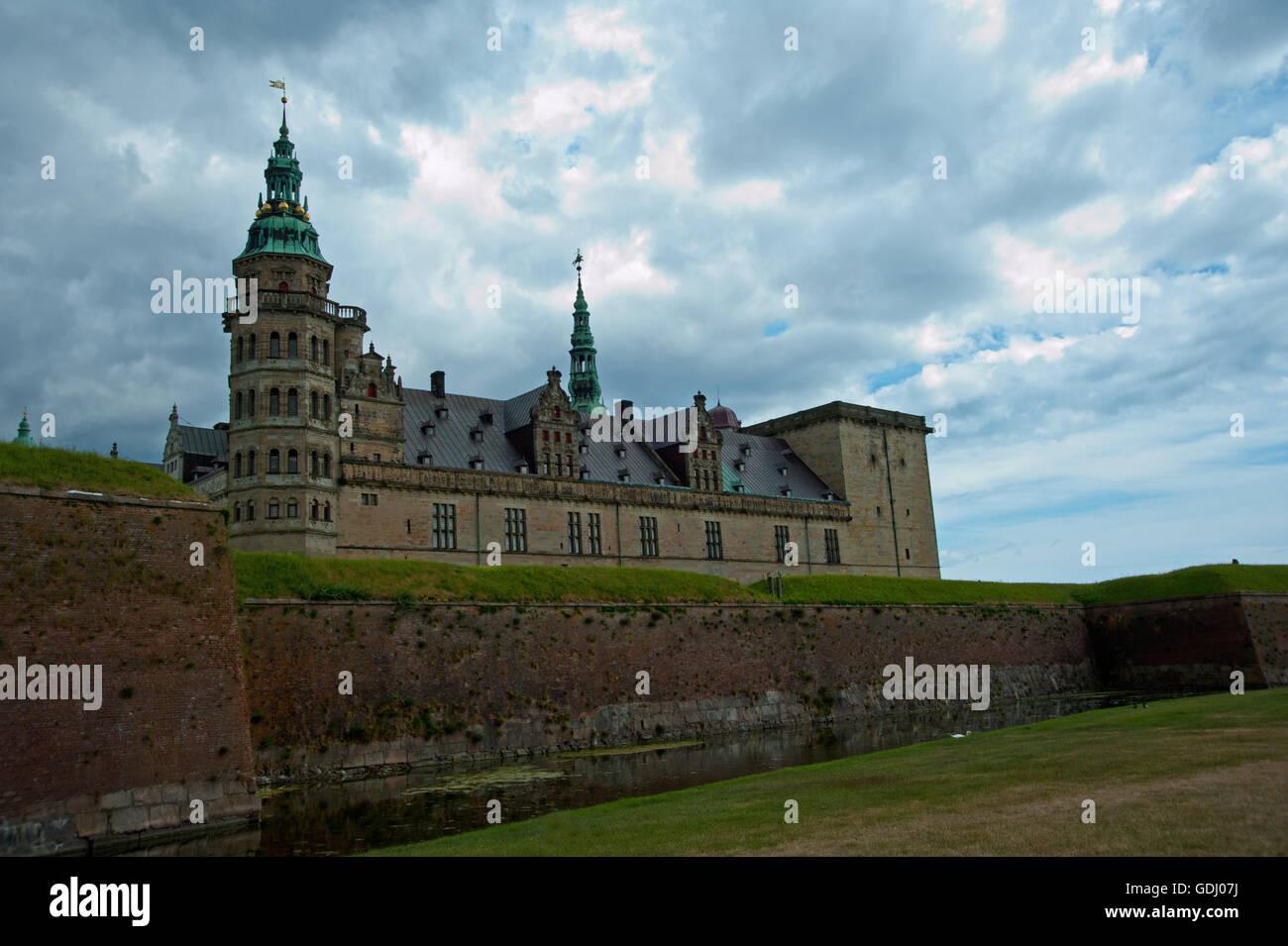 Helsingor Kronborg Castle Shakespeare's Hamlet - Stock Image