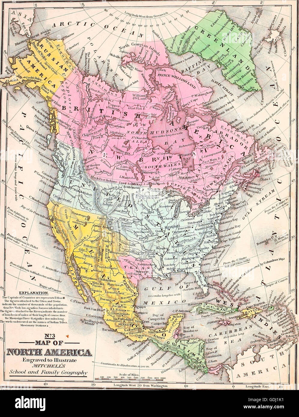 North America And Canada Map.United States Of America And Canada Map Stock Photos United States