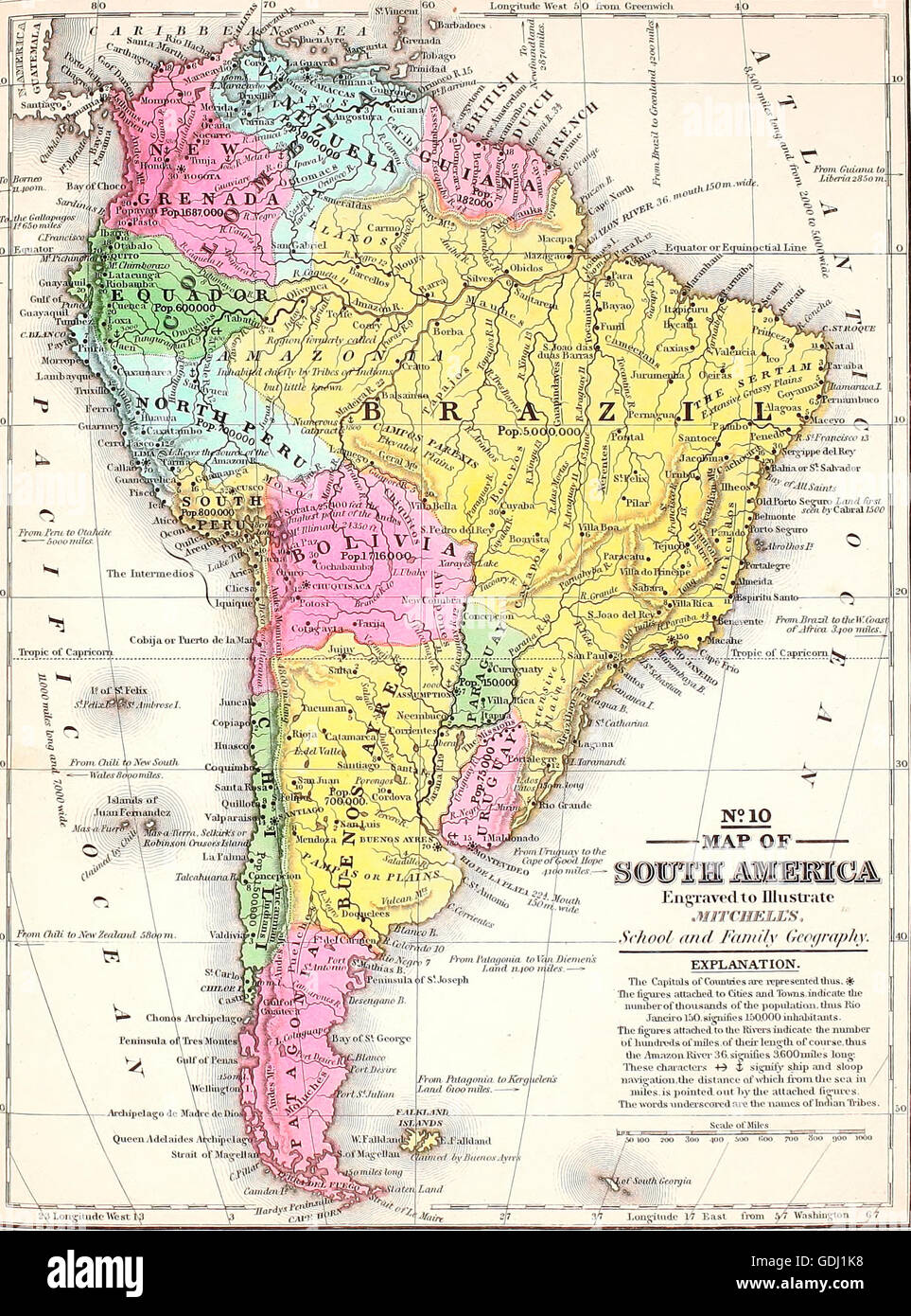 Map of South America, circa 1860 Stock Photo: 111649196 - Alamy Map Of America on map of civil war 1860, map of usa in 1860, map of religion in 1860, map of the united states 1860, map of prussia 1860, map of boston 1860, map of kansas 1860, map of chicago 1860, map of alabama 1860, map of western states in 1860, map of u.s. 1860,