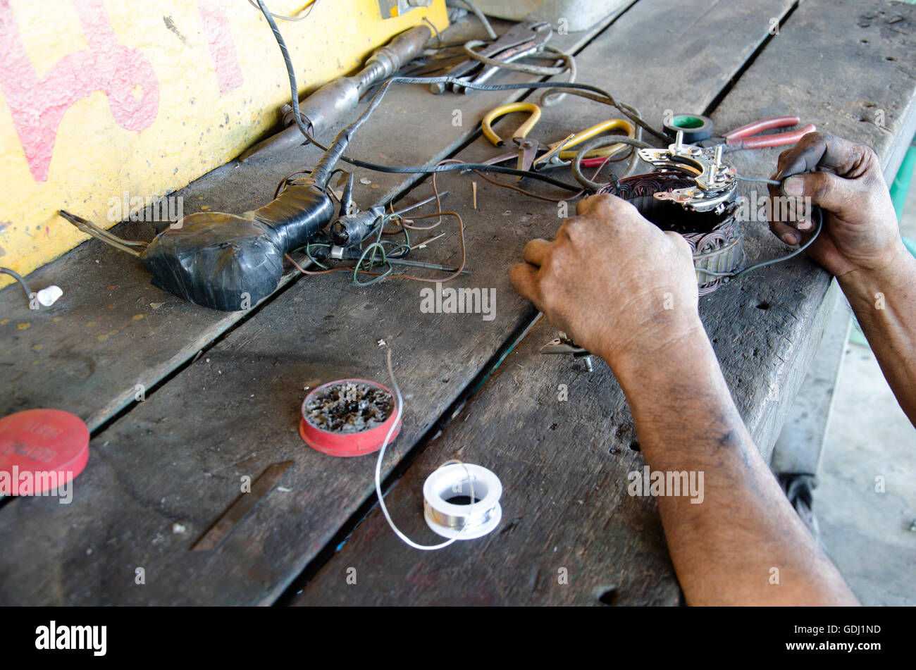 Old man 60 year old thai people professional automotive motor Stock ...