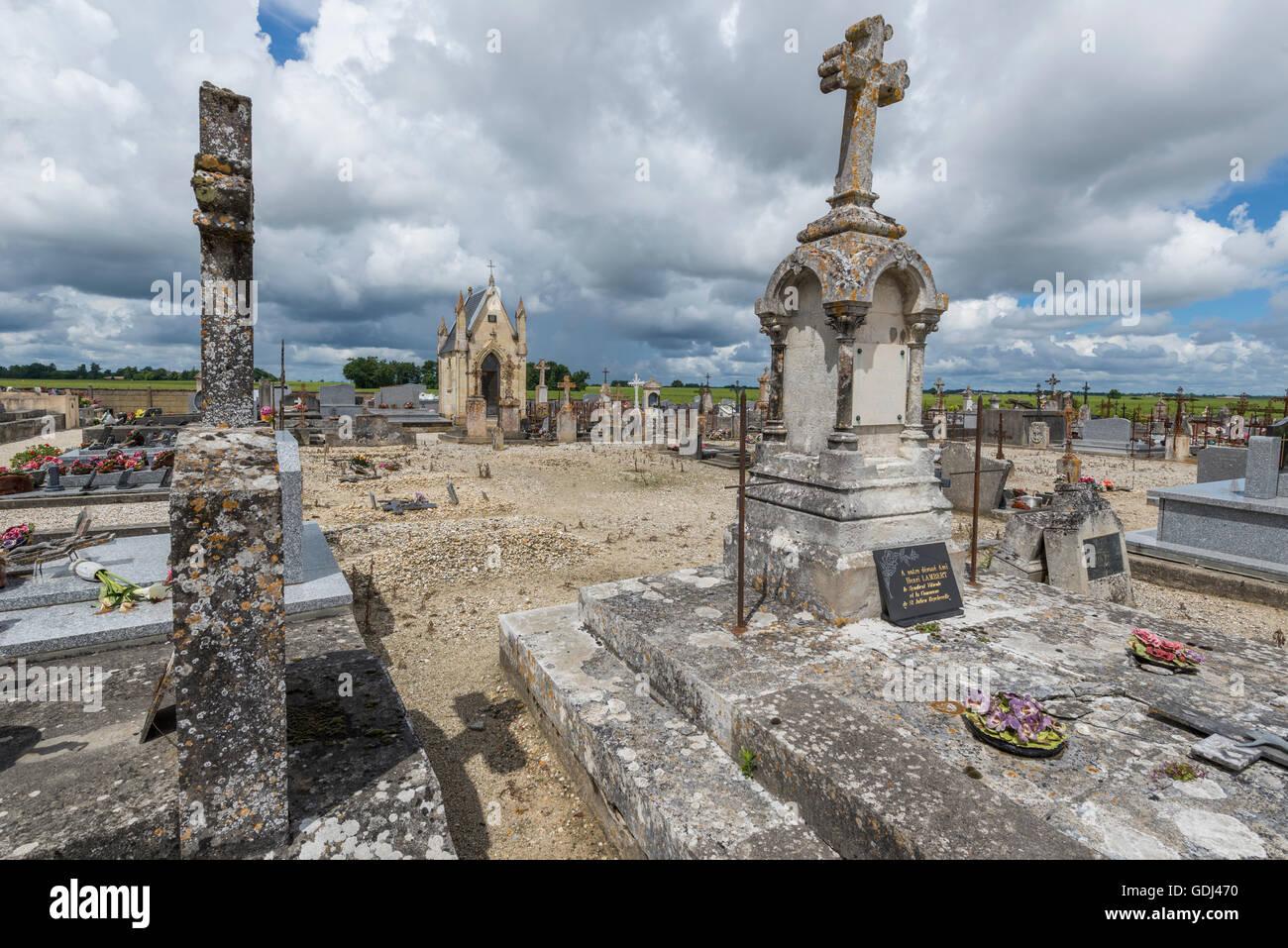 cemetery of Saint Julien, Gironde, France Stock Photo