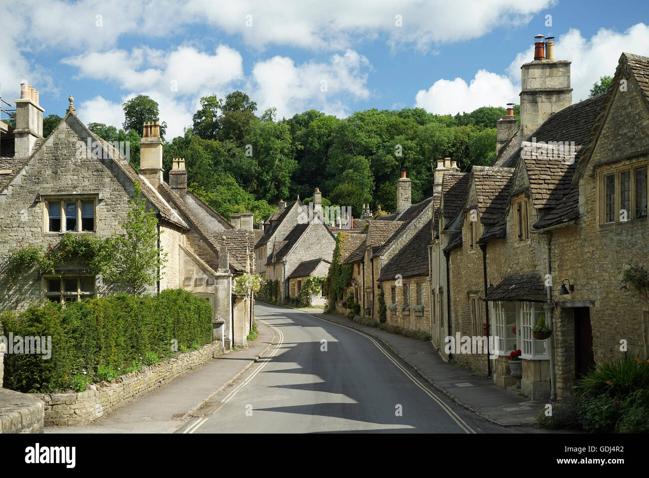 The Street, Castle Combe, Wiltshire -2 - Stock Image