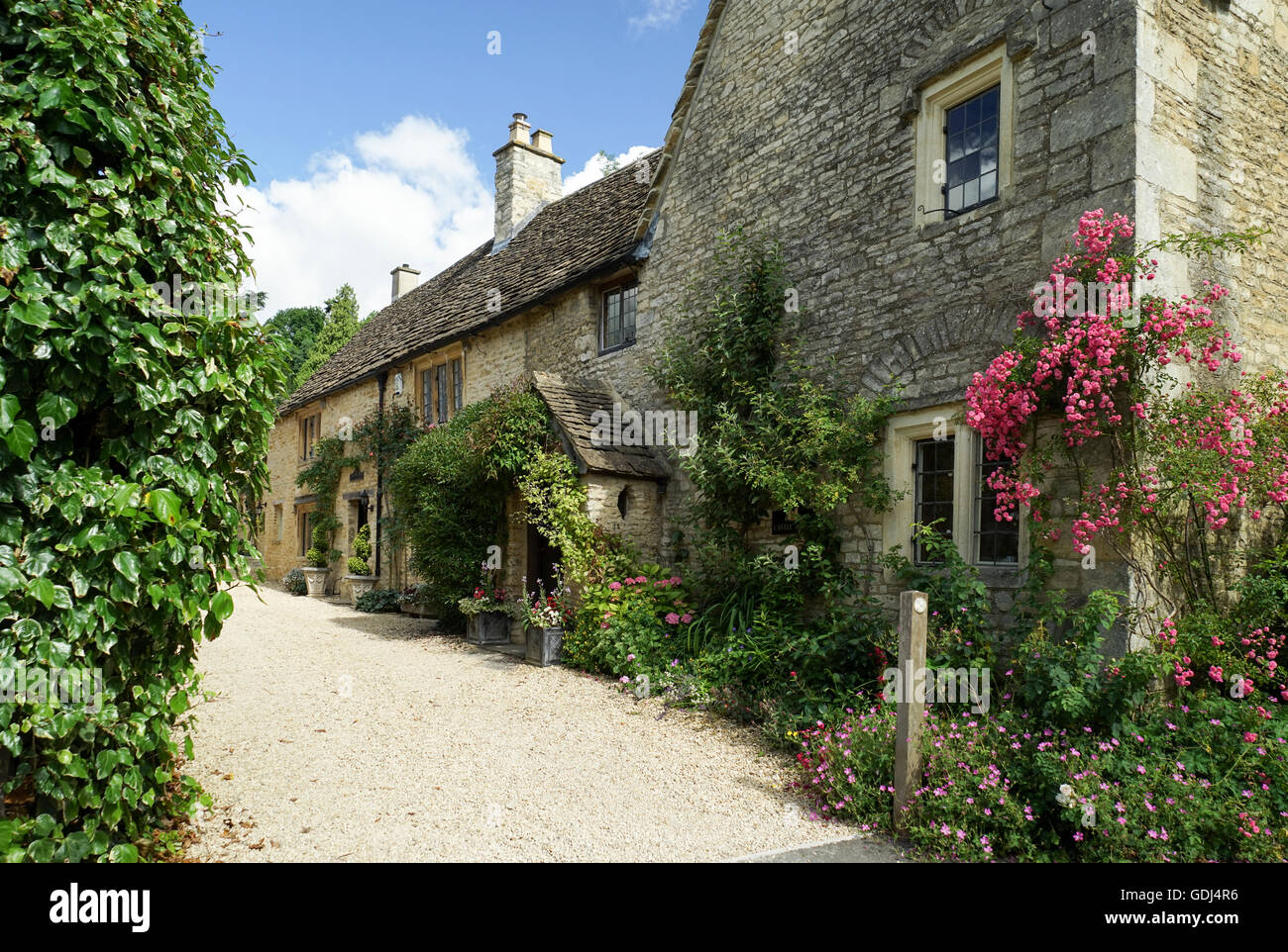 Castle House, Castle Combe, Wiltshire -1 - Stock Image