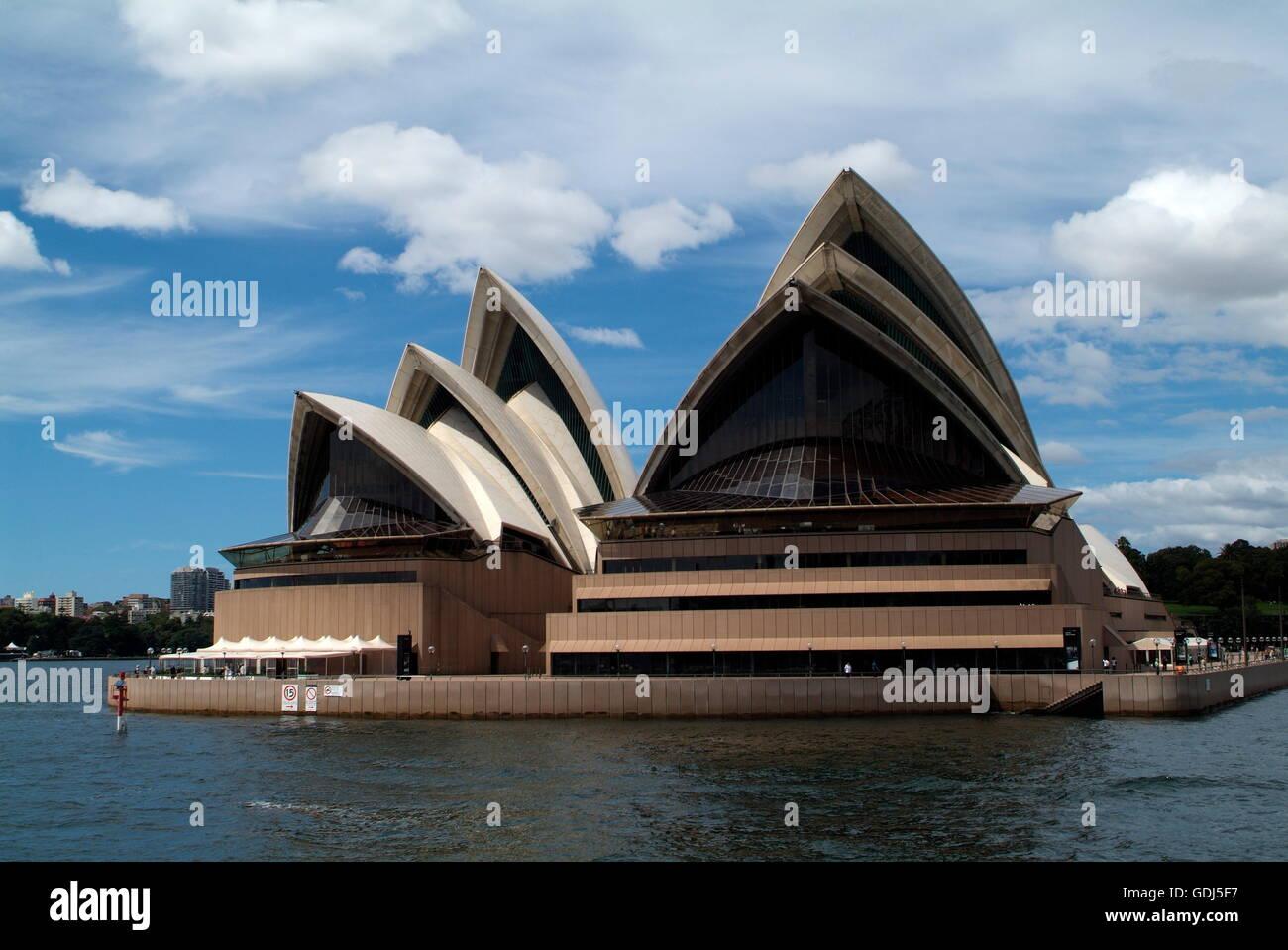 geography / travel, Australia, Sydney, buildings, Sydney Opera House, built: 1959 - 1973 by Jorn Utzon, exterior - Stock Image