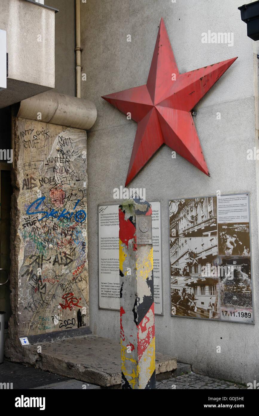Berlin Wall Memorial Piece Stock Photos & Berlin Wall