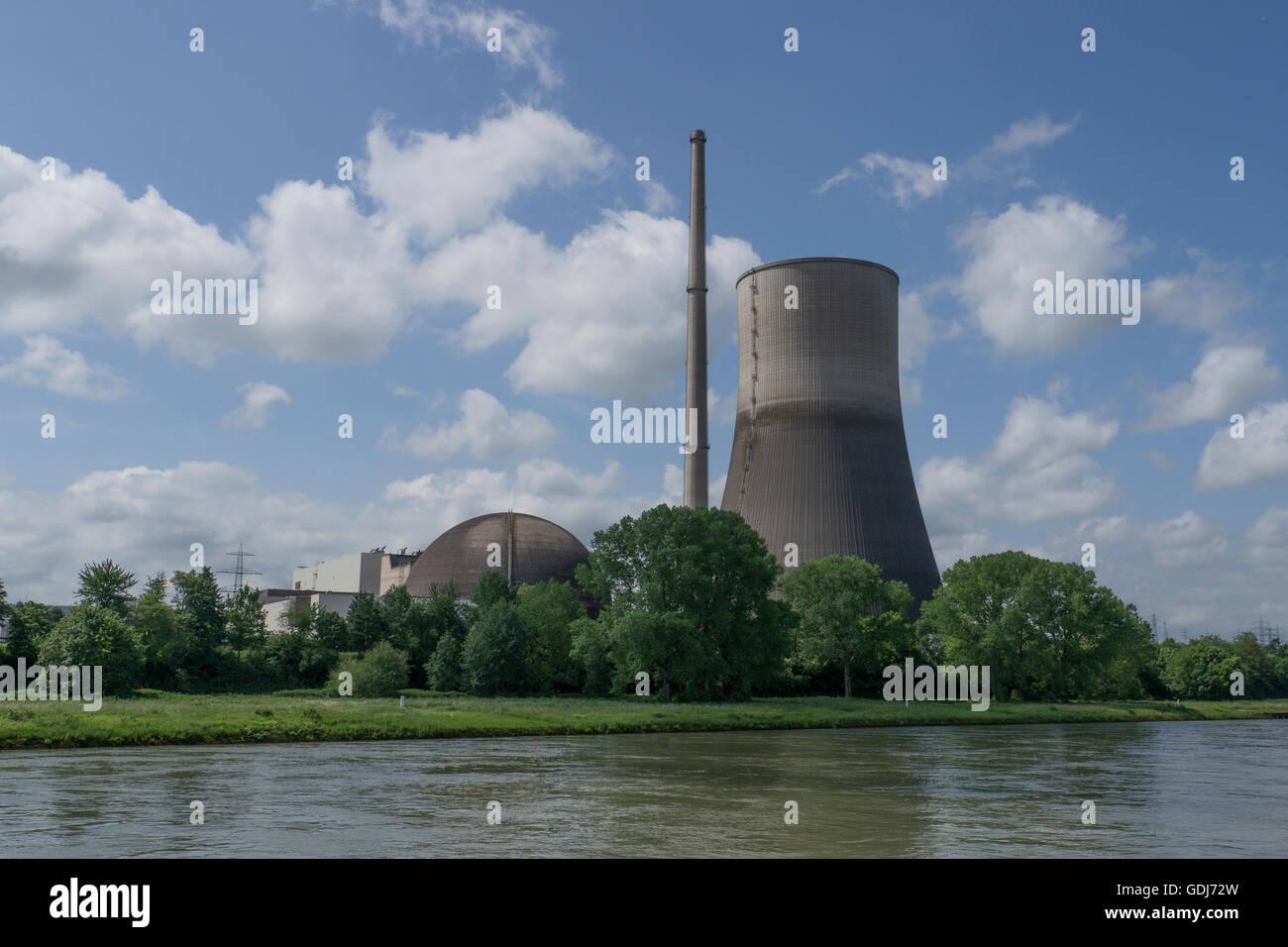 Former Mülheim-Kärlich nuclear-power station Rhineland-Palatinate,Germany - Stock Image