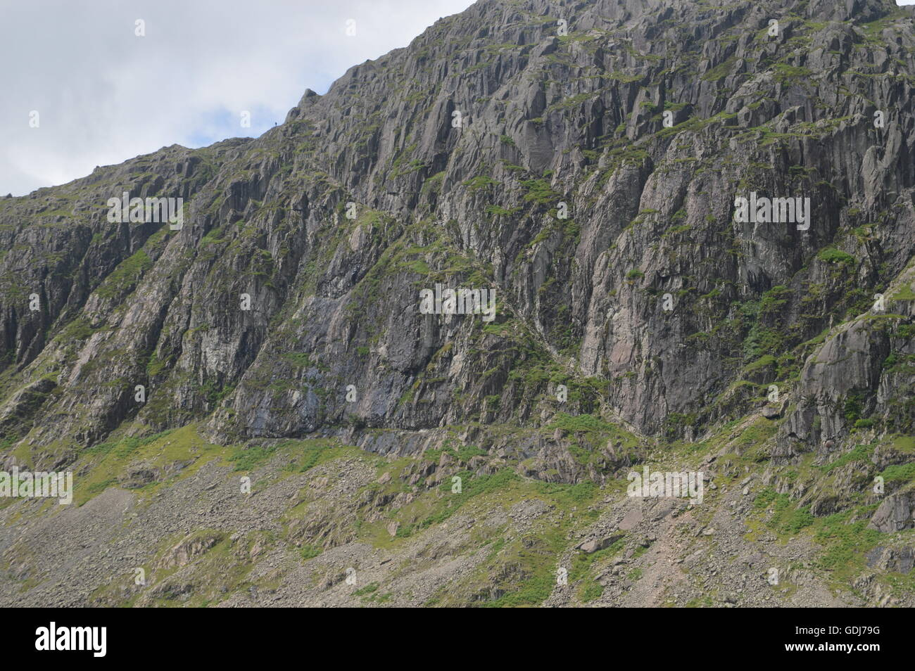Jakes Rake on Pavey Ark in Langdale within The Lake District National Park - Stock Image
