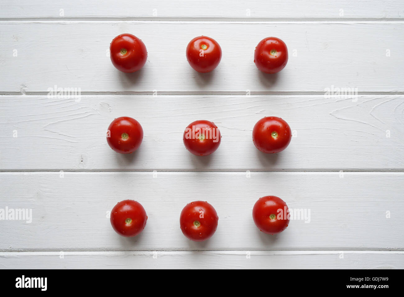 cherry tomato flat lay - Stock Image