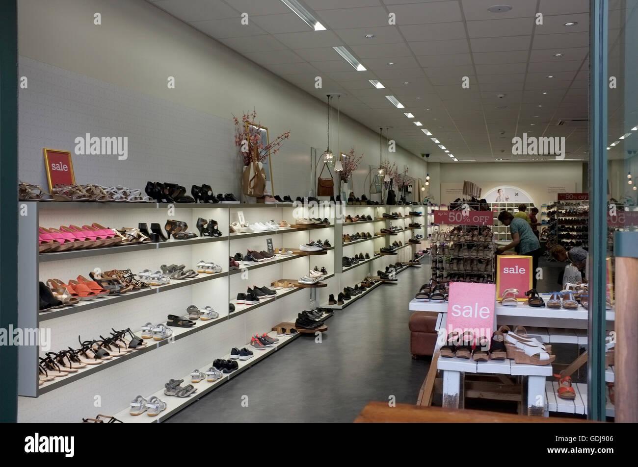 77045b60d19 clarks shoe shop branch in westwood cross east kent uk july 2016 - Stock  Image