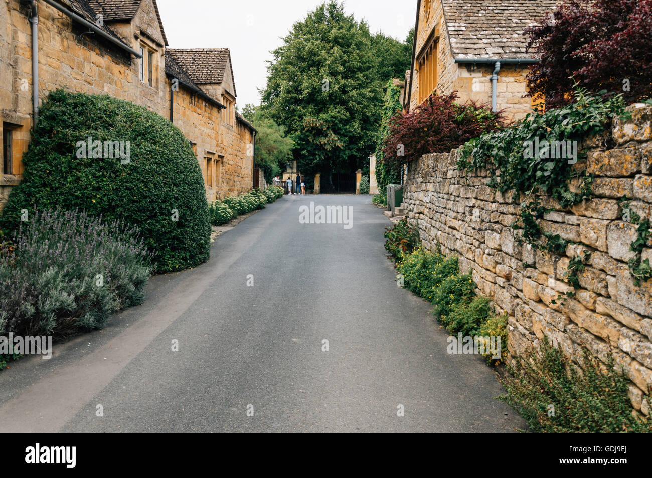 Typical street in the center of the village. Stanton is one of the prettiest and idyllic villages - Stock Image